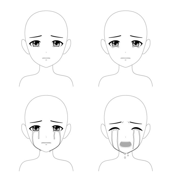 4 cara menggambar mata anime menangis