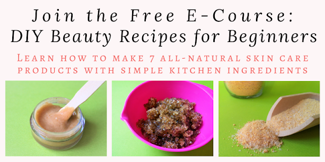 Learn how to make 7 luxurious all-natural skin care products with ingredients you have in your kitchen right now. Join the free e-course and get the lessons delieverd to your inbox now.
