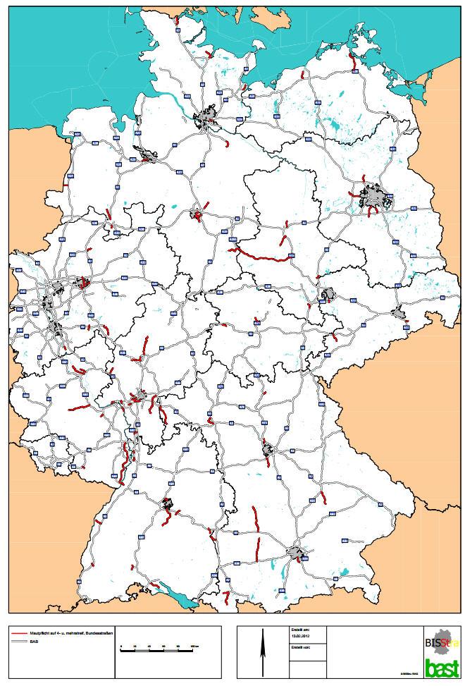 bundesstraßen karte Landkartenblog: LKW Maut jetzt auch auf viele Bundesstraßen in  bundesstraßen karte