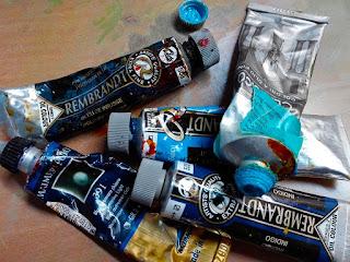 I COLORI DI CENNINO CENNINI : IL BLU artistah24 blog arte tubi di colore ad olio blu