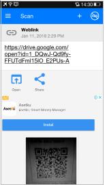 Gambar 4.2 Hasil scan link file