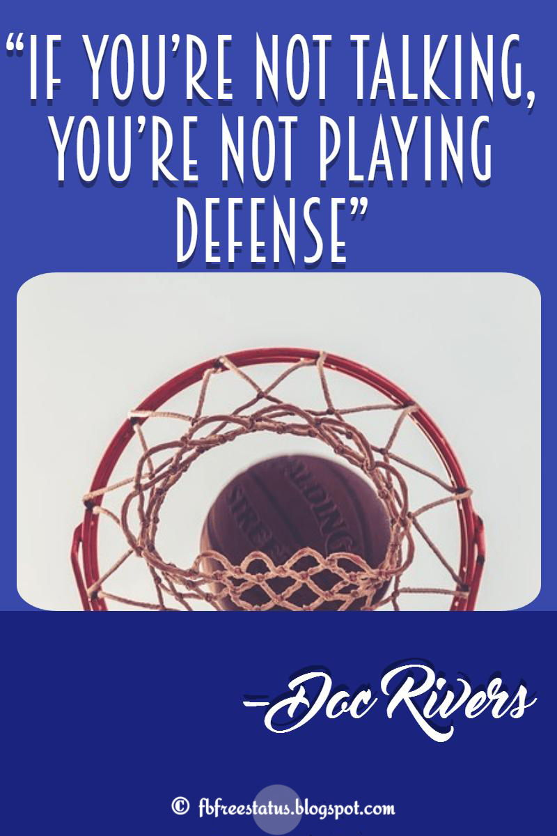 Doc rivers basketball quotes with image