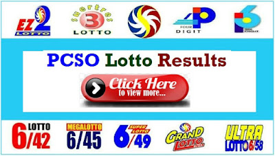 PCSO Lotto Result December 1, 2019