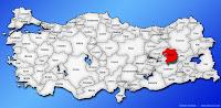 Bingöl ilinin Türkiye haritasında gösterimi