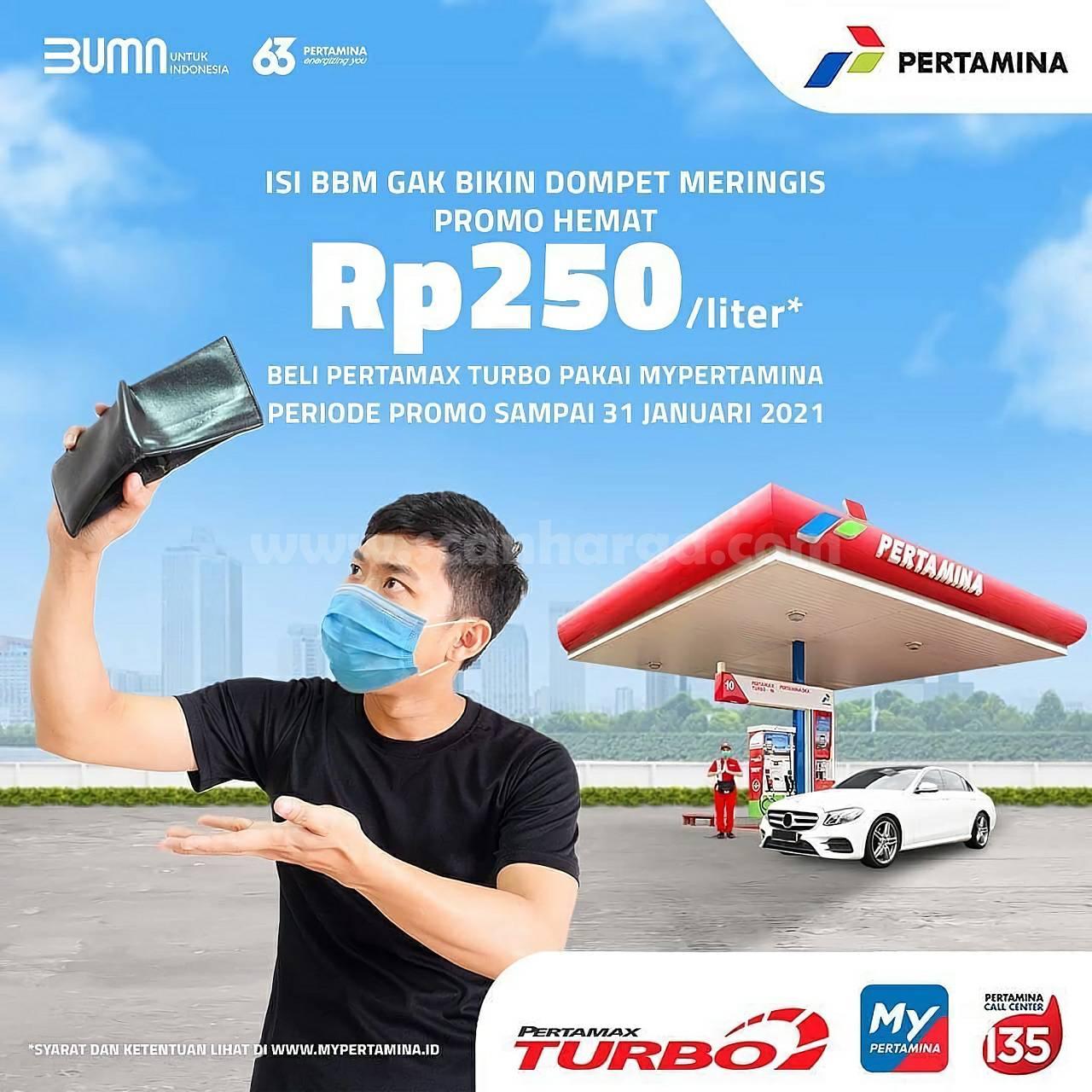 PERTAMINA Promo Hemat Rp 250 Liter – Setiap pembelian Pertamax Turbo