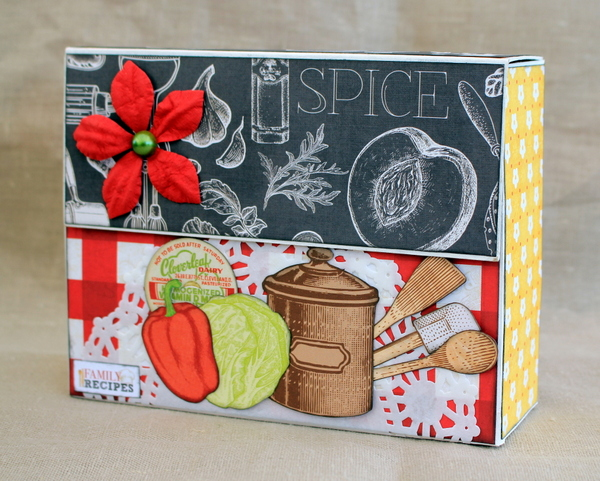 Recipe Box Alter Tutorial Video by Ulrika Wandler using BoBunny Family Recipe Collection