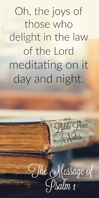 Psalm 1 - meditating on God's Word brings sheer delight in God and His Word