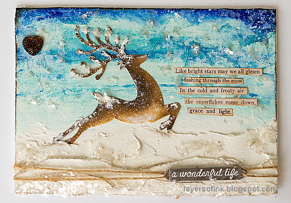 Layers of ink - Mixed Media Winter Landscape Canvas Tutorial by Anna-Karin Evaldsson.