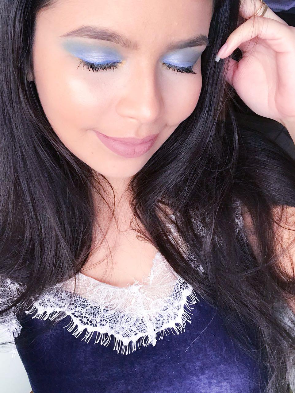 Maquiagem Azul para Copa - Brasil