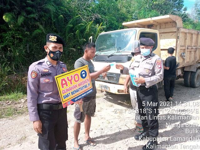 Ops Yustisi terus dilakukan Polres Lamandau, ingatkan warga patuhi Prokes