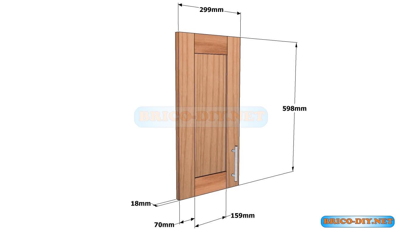 Mueble de cocina Plano alacena de madera cedro 60 cm de ...