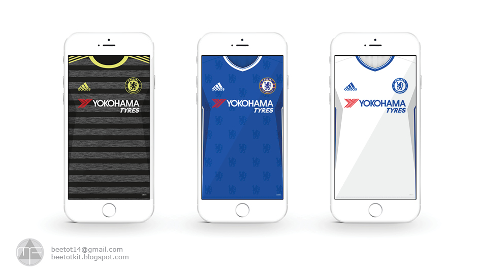 Beetot Kit Chelsea Fc Kit 1617 Iphone 6 Wallpaper