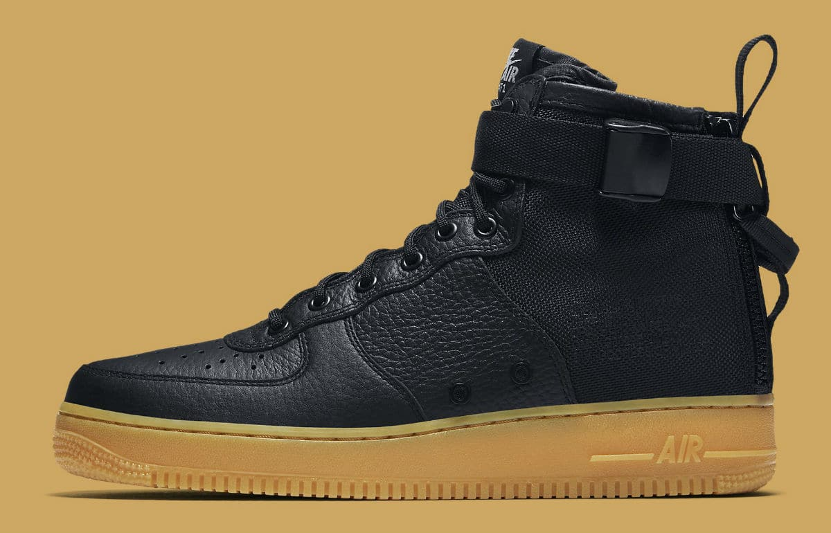 new product 37c60 89c8c Nike SF Air Force 1 Mid Black Gum