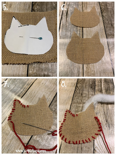 Crafting with Cats Catmas Special - Part 2 ©BionicBasil® How To Make A Bahumbug Burlap Cat Tree Decoration
