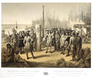Prise de possession de la Louisiane et du fleuve Mississippi au nom du roi de France Louis XIV