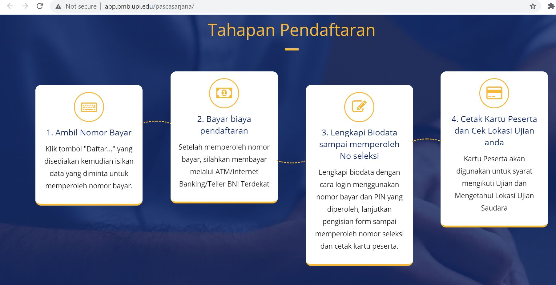 Pendaftaran dan Seleksi Pascasarjana UPI
