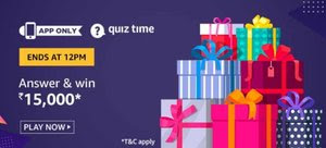 Amazon Quiz 28 November 2019 Answer | Win Rs.15000 Amazon Pay balance