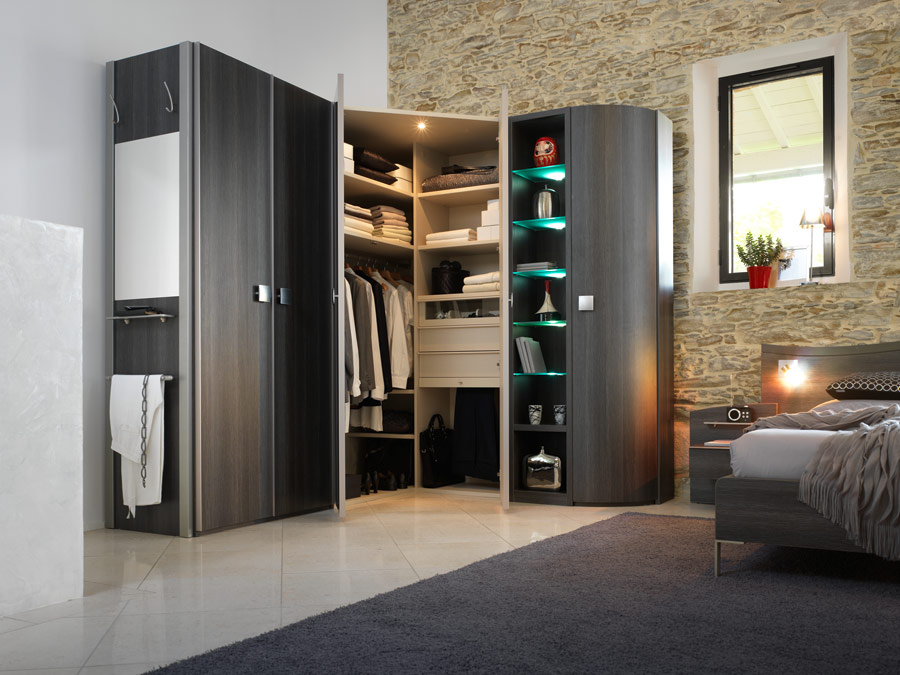 art d co chambre coucher celio et dressing. Black Bedroom Furniture Sets. Home Design Ideas