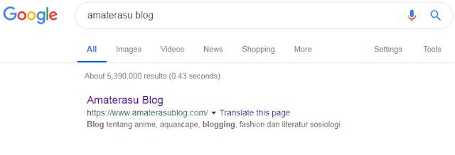 cara membuat deskripsi blog supaya tampil di halaman penelusuran google.