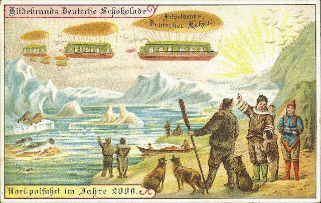 Antiguas postales futuristas Hildebrand