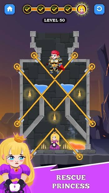 Hero Rescue Mod Apk (Unlimited Money) rescue the princess
