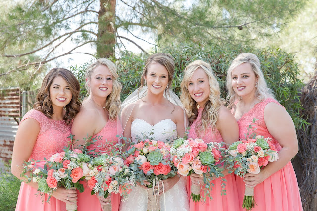 Shenandoah Mill in Gilbert AZ Wedding Party Photo of bridesmaids by Micah Carling Photography