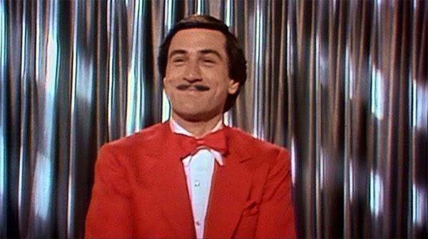 Robert De Niro in a red suit in The King of Comedy