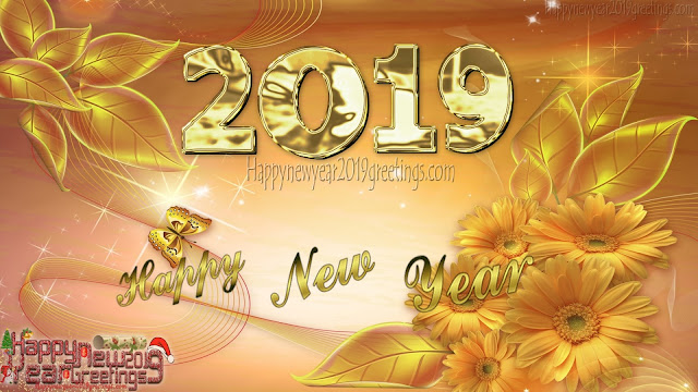 New Year 2019 Golden Background Images For Desktop