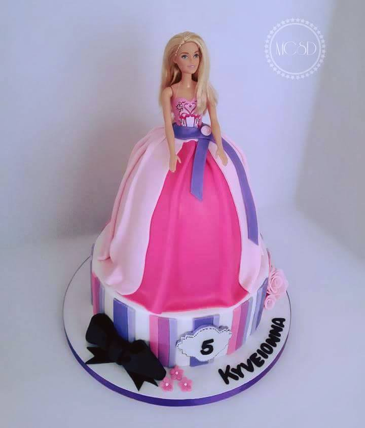Halloween kitchen decorating ideas - My Cake Sweet Dreams Quot Barbie Birthday Cake