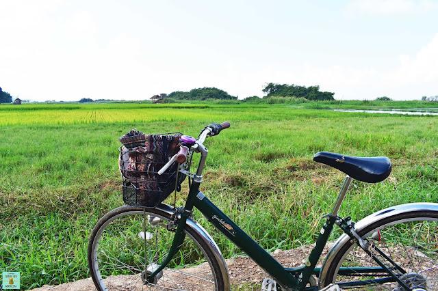 Paseo en bicicleta en lago Inle