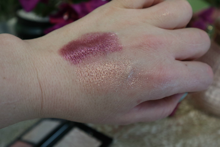Swatches: Ruby on top and Sunstone on the bottom