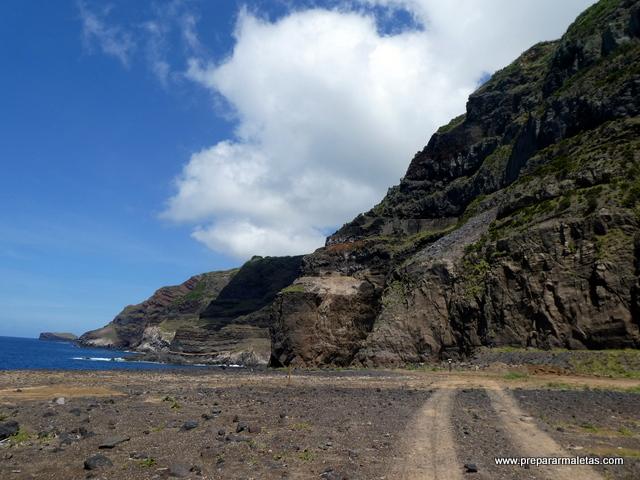 campos de lava en las islas Azores