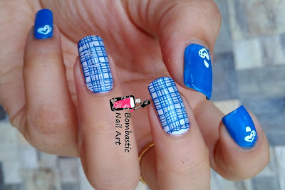 Check Water Decal Nail Art