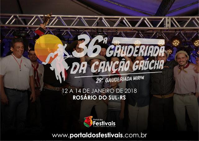 Definidas as músicas classificadas para a 36ª Gauderiada da Canção Gaúcha