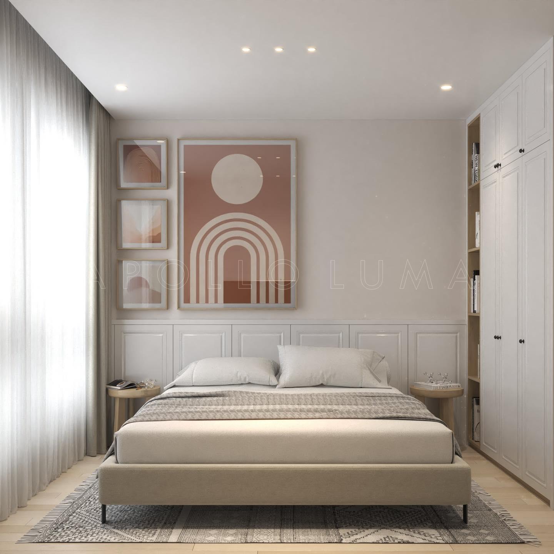 Thiết kế nội thất căn hộ 2 phòng ngủ Vinhomes Ocean Park