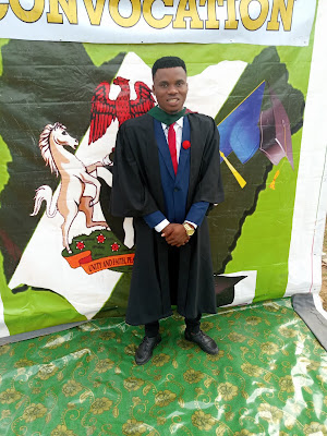 The convocation ceremony of Engr Isaac Agba Okwukwe which took place on April 6th, 2019 was a huge success. Engr Isaac Agba Okwukwe. who  hails from Umuma Isiaku Village in Ideato South Local Government Area of Imo State, Nigeria is an entrepreneur, blogger, graphics designer and social  media influencer. He studied Polymer and Textile Engineering  at the Federal University of Technology Owerri (FUTO) and graduated with Second Class Honuor in Bachelor of Engineering (B.ENG).  The CEO of this great platform gravitygist.com in the person of Engr Isaac Agba Okwukwe . today the 6th April 2019 flaunted pictures of his convocation ceremony which took place at the Federal University of Technology Owerri (FUTO) convocation arena.   Engr Isaac Agba O. Who studied Polymer and Textile Engineering at the said university above has officially graduated from the university.  Interestingly, Engr Isaac Agba O. bags Second Class Upper (2:1) and received Honors of Bachelor of Engineering in the Polymer and Textile Engineering.