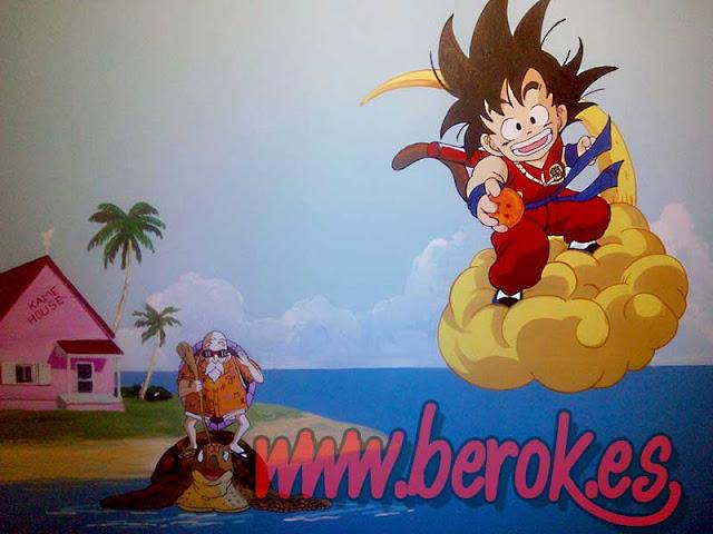 Murales infantiles Barcelona Goku
