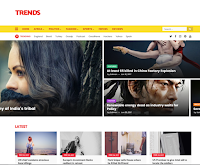 Trends Magazine Blogger Template Original Premium Version For Free. You can easily change the footer credit for this Blogger Template.