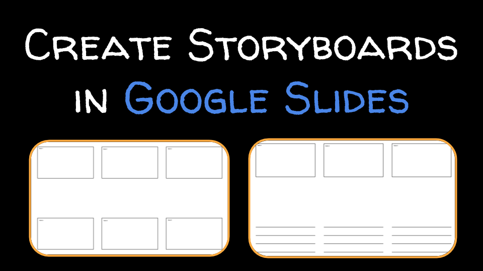 free technology for teachers quickly print a storyboard template from google slides. Black Bedroom Furniture Sets. Home Design Ideas