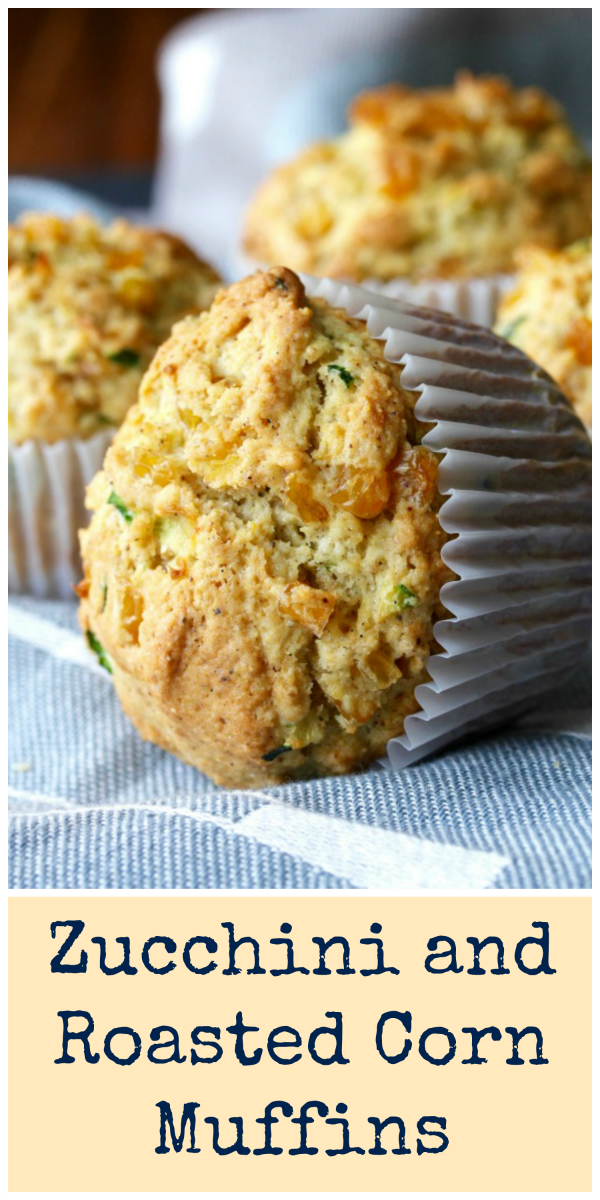 These Zucchini and Roasted Corn Muffins are the perfect combination of savory and sweet.