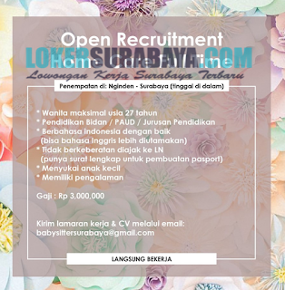 Karir Surabaya Terbaru di Home Care Full Time Juni 2019