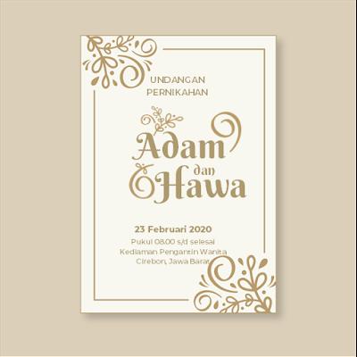 Contoh undangan pernikahan sederhana tapi elegan