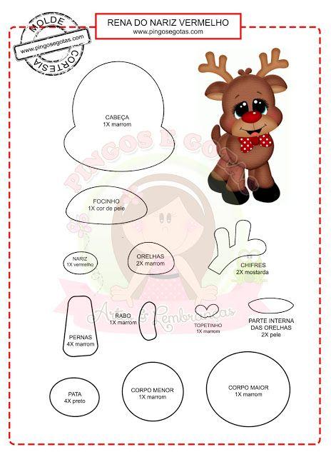 DIY - Decoração de Natal Com Feltro Super Fácil de Fazer Com Moldes 10
