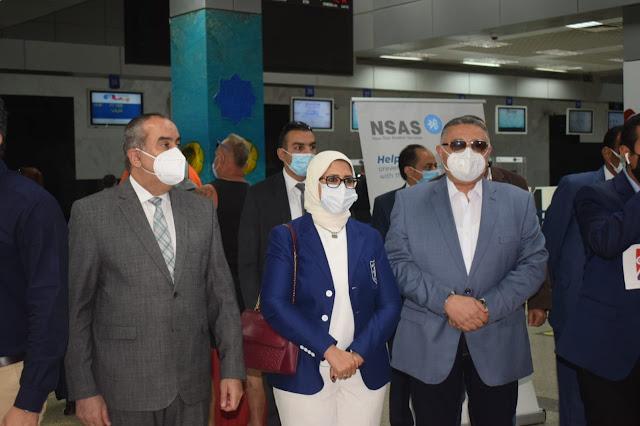 عمرو حنفي : تفقدنا مطار الغردقة الدولي ومقر هيئة تنشيط السياحة المخصص لسحب عينات PCR للسياح المغادرين