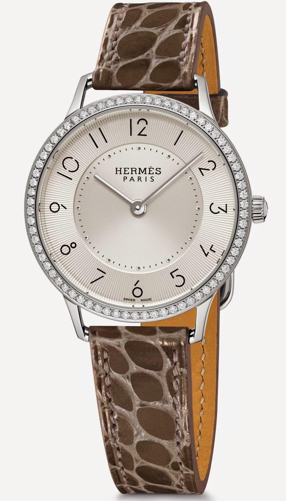 Slim d'Hermès Quartz watch Steel, 32 mm