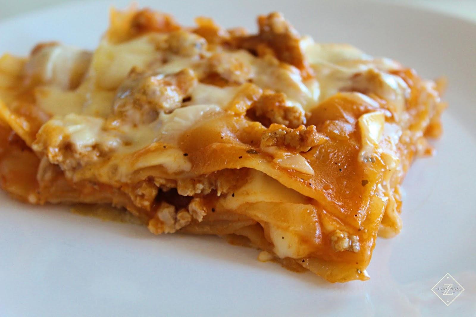 Lasagne z sosem bolońskim - przepis