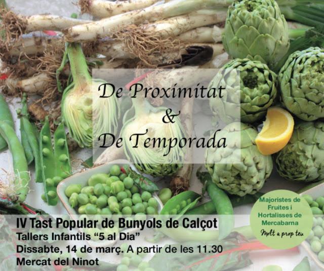 Gran Tast  Popular de bunyols de calçot al Mercat del Ninot