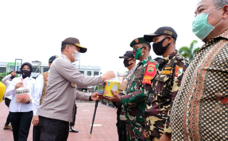 Kunjungan Kapolda dan Gubernur Riau Terkait Informasi Covid-19 Kota Dumai