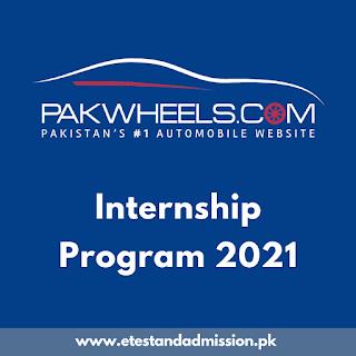 PakWheels Internship Program 2021