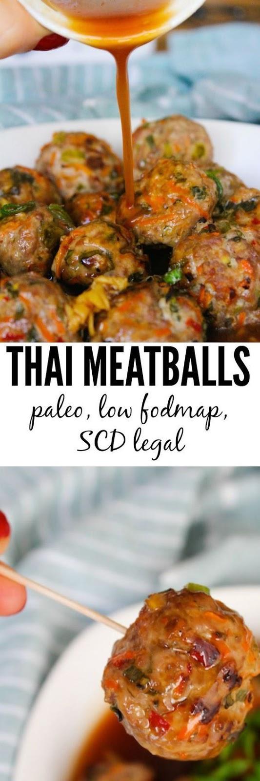THAI MEATBALLS – PALEO & LOW FODMAP